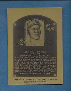 ERNIE BANKS, Cubs | Official Hall of Fame METALLIC plaque-card | 1 of 1,000