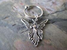 "Pretty Silver Fairy Cartilage Piercing Captive Ring Tragus Earring 16 G 1/2""-Fae"