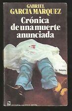 G Garcia Marquez Book Cronica De Una Muerte Anunciada 2nd Ed 1981