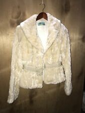 Beth Bowley Faux Fur Coat  Size Small In Ivory