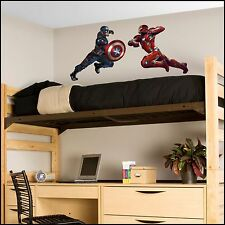 Avengers Civil War Large Iron Man Captain America fight scene Wall Art Sticker