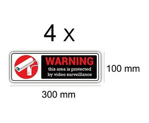 CCTV Warning Vinyl Stickers Security Camera Decal Sign Quality Outdoor Durable
