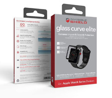 ZAGG INVISIBLE SHIELD APPLE WATCH SERIES 3 2 1 42MM GLASS CURVE SCREEN PROTECTOR