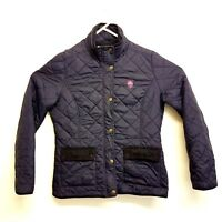 MCFC Womens Quilted Padded Jacket Navy Blue UK Size 12 Manchester City