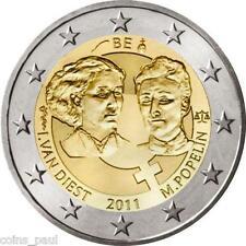 Belgium 2 Euro, 2011, Women's day, 100th Anniversary  commemorate  KM# 308  UNC