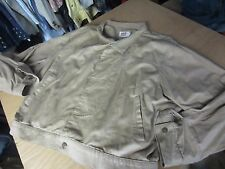 vtg 80-90s RED STREET LEVIS tan KHAKI denim jean JACKET mens LARGE L made USA