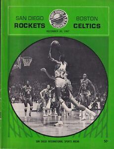 1967 SAN DIEGO ROCKETS VS. BOSTON CELTICS PROGRAM SAN DIEGO SPORTS ARENA 5131
