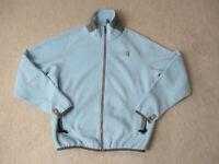 The North Face Jacket Womens Small Light Blue Gray Fleece Full Zip Coat Ladies