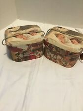 Beautiful Vintage Looking Storage Gift Decor Boxes  Set Of 2