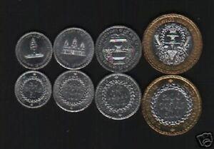 CAMBODIA 50 100 200 500 RIELS x 100 Set Lot KM92 93 94 95 BI METAL 1994 UNC COIN