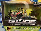 GI Joe Rise of Cobra Snarler Cycle with Beachhead and Roll Bar 2009 Sealed