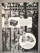 Lincoln Logs Toy PRINT AD - 1968 ~ Playskool toys