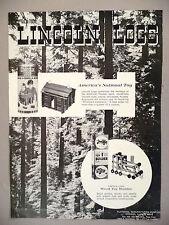 Lincoln Logs Toy PRINT AD - 1968 ~ Playskool toys