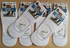 6 pares calcetines invisibles pinkis de vestir. 95% Algodon. Blanco. Talla 40/46