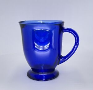 Anchor Hocking 16 Oz. Cobalt Blue Glass Pedestal Mug
