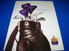 """2006 CROWN ROYAL GOLF DAY """"GOLF BAG""""..1-PAGE SALES AD (579Z)"""