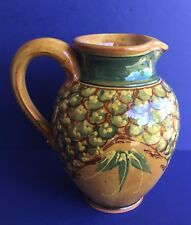 F F GRIFFI TERRAGHJA SUD & CO FRENCH POTTERY PITCHER - HAND PAINTED PETALS
