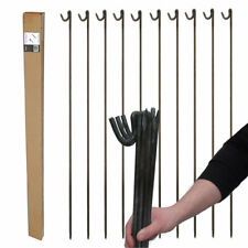 STRONG METAL STEEL BARRIER FENCING PINS ROAD PINS STAKES POST 10mm x 1.25m 10 pk