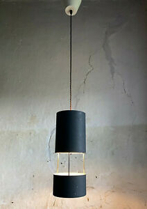 RARE French Modernist Cylinder Ceiling Light / Pendant by PHILIPS. c1950s