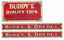 BUDDY-L DREDGE DECAL SET