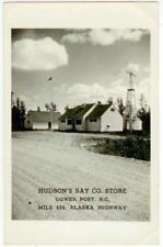 1940s Lower Post British Columbia Canada Hudson's Bay Co. Store Real Photo