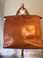 RARE Vintage Tan Genuine Leather Large Dsquared Holdall Travel Weekend Case Bag