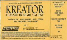 RARE / TICKET BILLET DE CONCERT - KREATOR : LIVE LYON ( FRANCE ) 1997