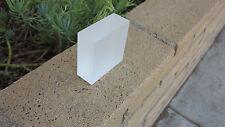 "2"" X 3""  X 3"" Custom Frosted SOLID Acrylic/Plexiglass BLOCK Display/Decoration"