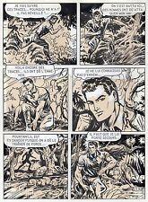 BOB LEGUAY METAMORPHOSE PLANCHE ORIGINALE TIM L'AUDACE ANNEES 1950 PAGE 17