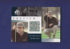 Hale Irwin 2001 Authentic Threads UD Golf SP Authentic Preview (MINT)