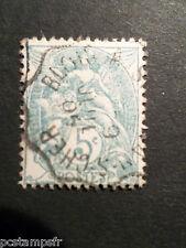 FRANCE 1900, timbre CLASSIQUE 111 BLANC, oblitéré CACHET CONVOYEUR VF USED STAMP