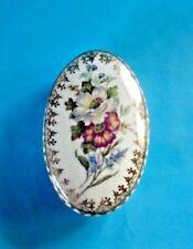 Ancienne Bonbonnière Boîte à Bijoux pilule Vintage porcelaine de Limoges France