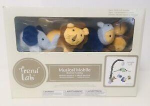 TREND LAB Plush Jungle Animals Musical Crib Mobile, Baby Mobile, Green Safari