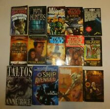 14 Lot Science Fiction,Isaac Asimov,Star Wars,Area 51,L.e. Modesitt,Anne Rice S4