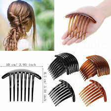 6 pcs Women 7 Tooth French Twist Comb Plastic Hair Clip Hair Side Combs Hair Lot
