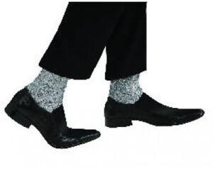 Michael Jackson Adult Sparkle Socks Costume Silver Glitter King Of Pop Accessory