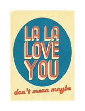 Pixies La La Love You Pop Art Print
