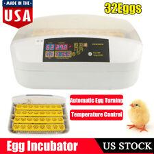 32 Eggs Digital Incubator Goose Chicken Duck Automatic Turning Hatcher Machine