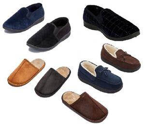 Boys Men's Winter Shoes Soft Warm Outdoor Faux Fur Moccasins Slippers Cozy Sizes