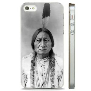 Sitting Bull Native American Sioux CLEAR PHONE CASE COVER fits iPHONE 5 6 7 8 X