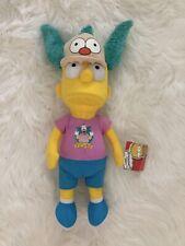 "The Simpsons Bart Simpson Krusty Clown Fan Costume Hat Plush 17"" Figure NEW"