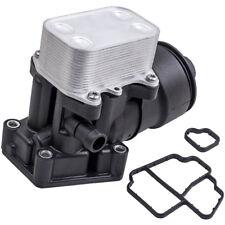 Oil Cooler Cap Housing Fliter + Gasket for Audi Seat Skoda VW 2.0TDI 1.6TDI