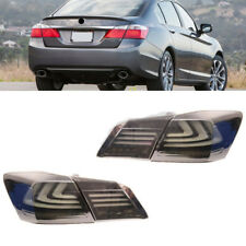 For HONDA ACCORD 2012-2014 BMW Style Smoke Rear Brake LED Tail Lamp Light
