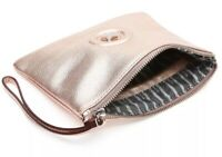 MIMCO Medium Pouch Rosegold Pebble Leather Wallet Clutch Bag BNWT Authentic New