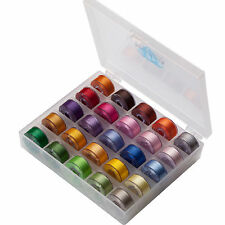 SIMTHREAD 60WT 25 MultiCOLORS Polyester Embroidery Machine Bobbins Thread Type A