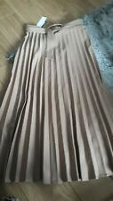 Primark Camel Tan Belted Pleated Midi Skirt Bnwt Size 14 42
