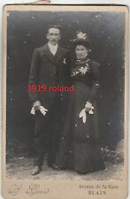 photo couple mariage Blain Loire Atlantique Bretagne gants robe 1900