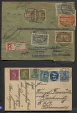 Germany Inflation Era 1923 Registered Cover, 1922/25 Uprated Post Cards