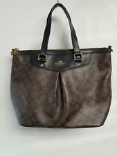 Womens Coach Saddle Luxury Pleat Tote Brown $223