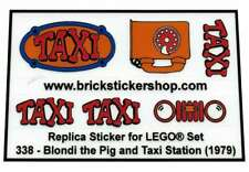 Custom Replacement Sticker voor Lego Set 338 - Blondi the Pig and Taxi Station (